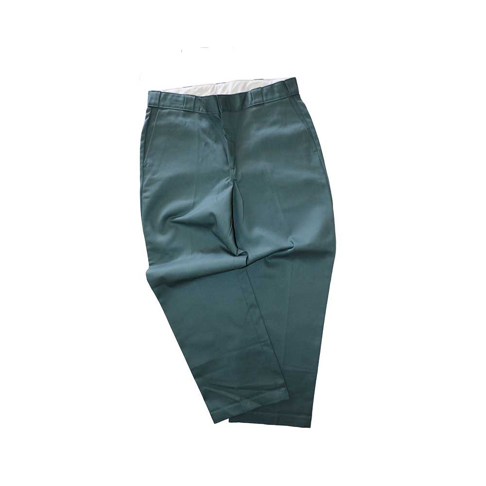 w-means(ダブルミーンズ) Dickies ポリエステルワークパンツ(MADE IN U.S.A.)表記36×30  SmokeGreen 詳細画像2