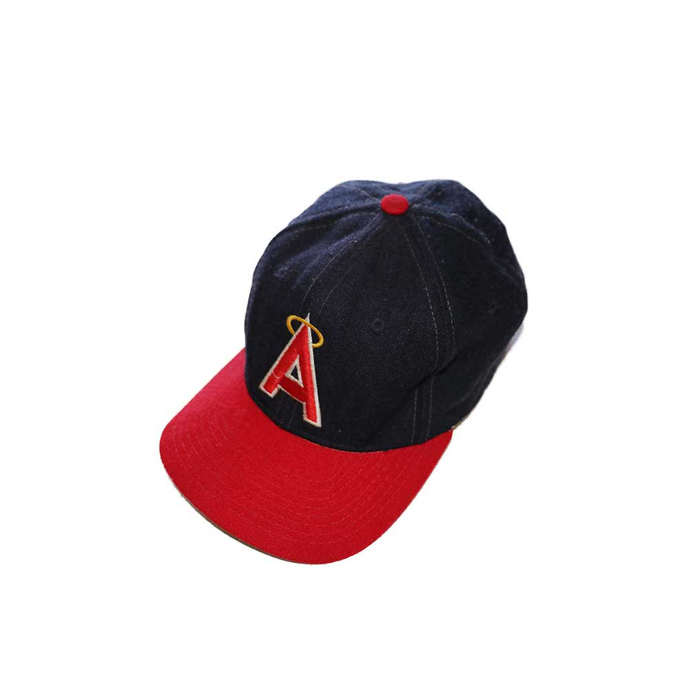 w-means(ダブルミーンズ) Anaheim Angels  ウールキャップ  one size fits all  紺×赤 詳細画像