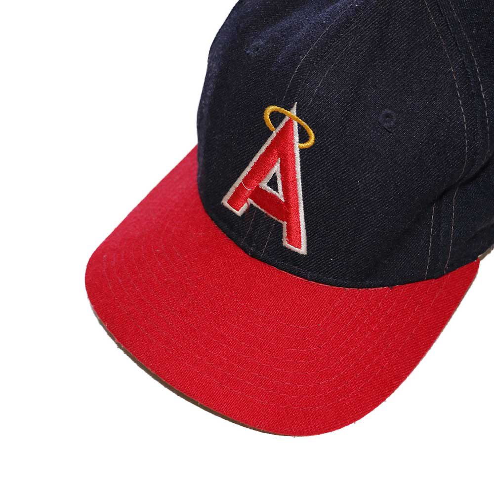 w-means(ダブルミーンズ) Anaheim Angels  ウールキャップ  one size fits all  紺×赤 詳細画像1