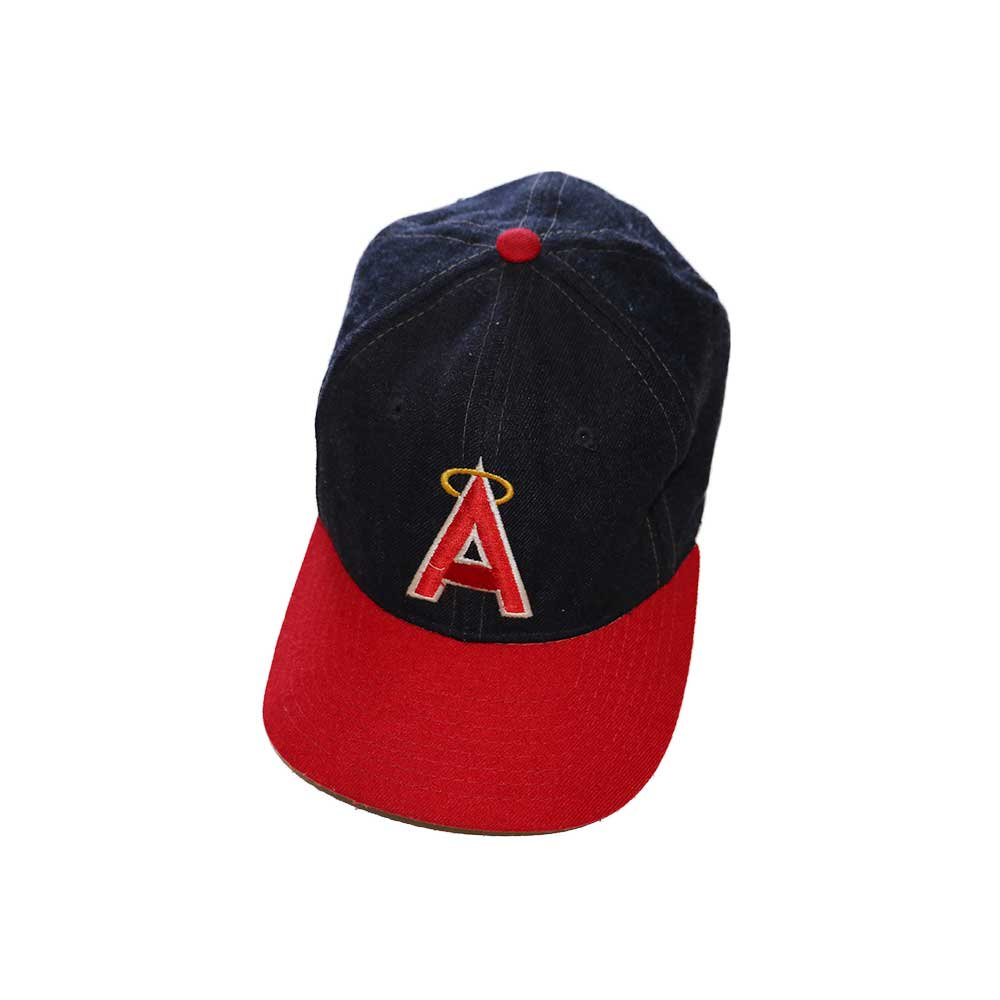 w-means(ダブルミーンズ) Anaheim Angels  ウールキャップ  one size fits all  紺×赤 詳細画像2