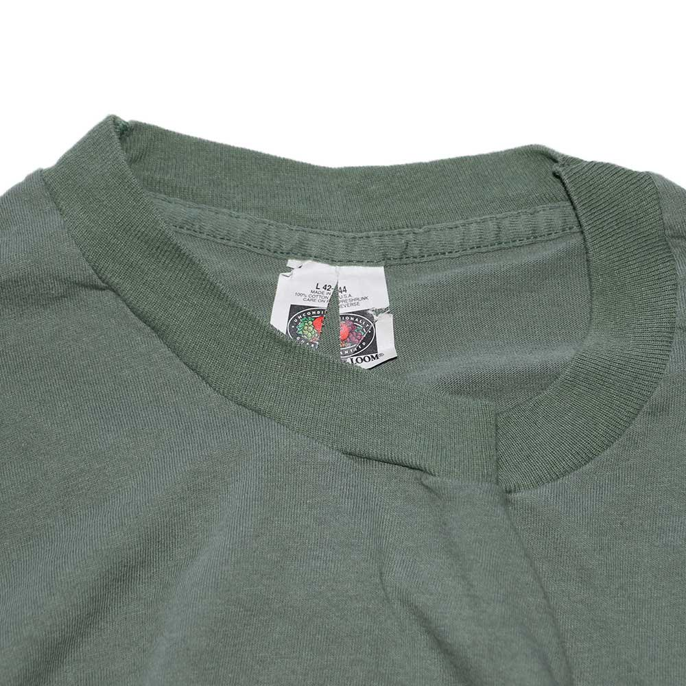 w-means(ダブルミーンズ) FRUIT OF THE LOOM 100%コットンポケットTシャツ(Made in U.S.A.)表記L  鶯色 詳細画像2