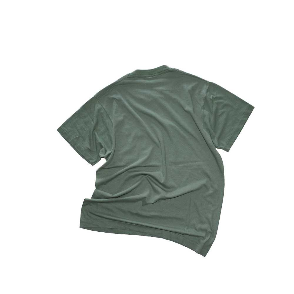 w-means(ダブルミーンズ) FRUIT OF THE LOOM 100%コットンポケットTシャツ(Made in U.S.A.)表記L  鶯色 詳細画像4