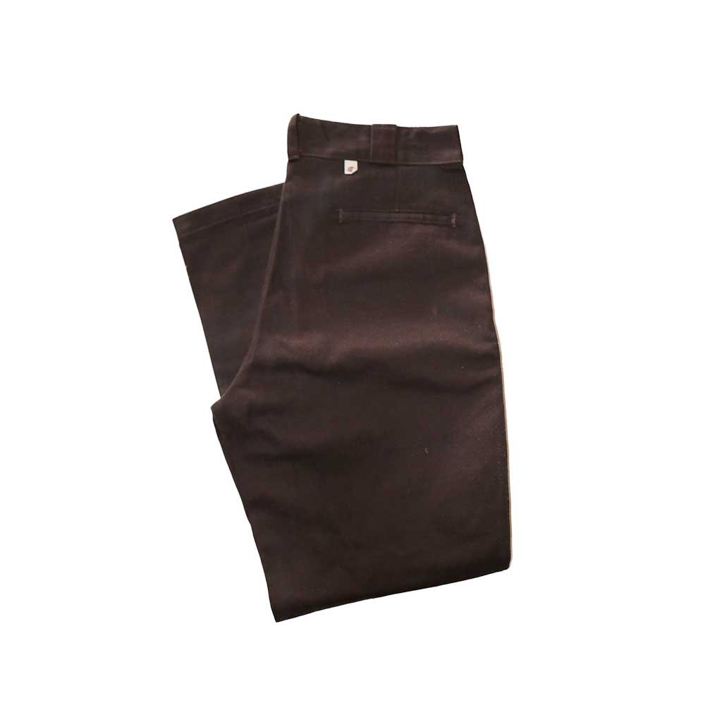 w-means(ダブルミーンズ) Dickies ワークパンツ(MADE IN U.S.A.)表記34   D.Brown 詳細画像