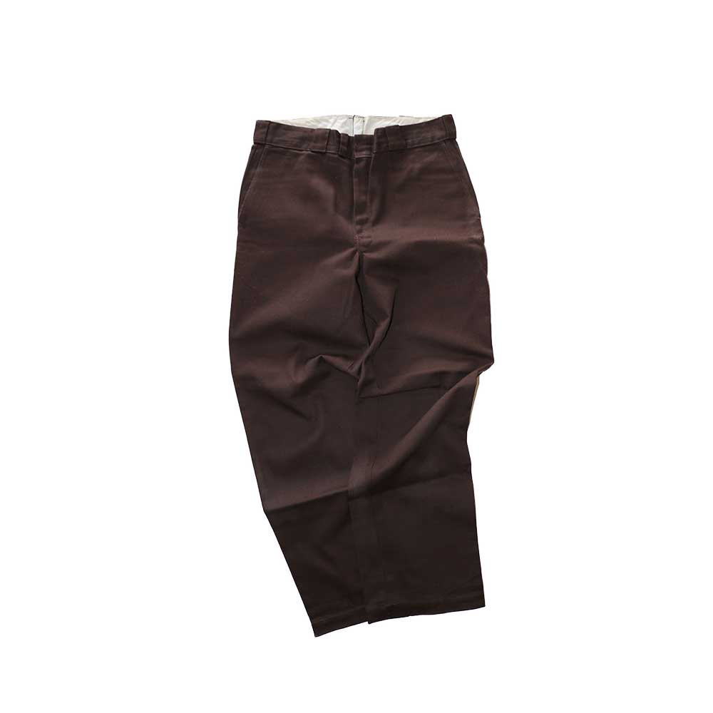 w-means(ダブルミーンズ) Dickies ワークパンツ(MADE IN U.S.A.)表記34   D.Brown 詳細画像1