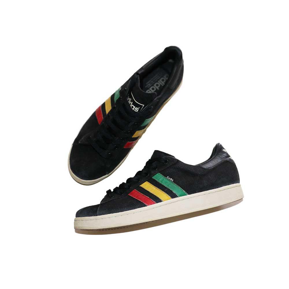 w-means(ダブルミーンズ) adidas Campus HEMP 表記 US10ハーフ  Black×Rasta 詳細画像