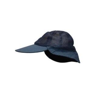Columbia ナイロンメッシュサンキャップ(Made in U,S,A,)表記M  D.Navy
