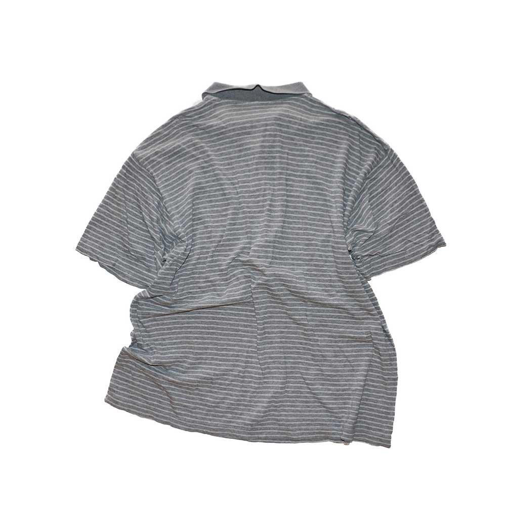 w-means(ダブルミーンズ) OLD NAVY コットン半袖ポロシャツ  表記xL  ボーダー柄 詳細画像2