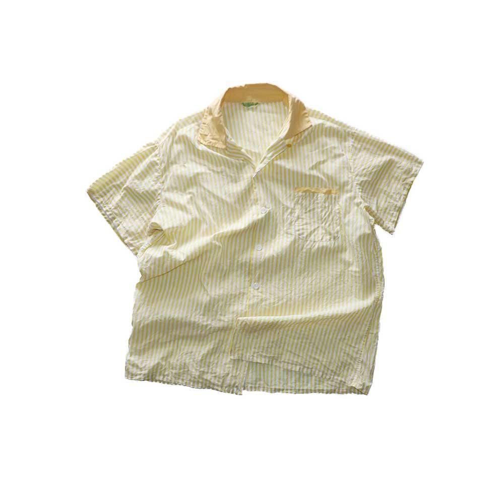 w-means(ダブルミーンズ) 60's コットンオープンカラー半袖シャツ(Made in California)表記xL  Yellow 詳細画像