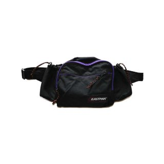 EASTPAK ナイロンウエストバッグ(Made in U.S.A.)one size  黒×紫