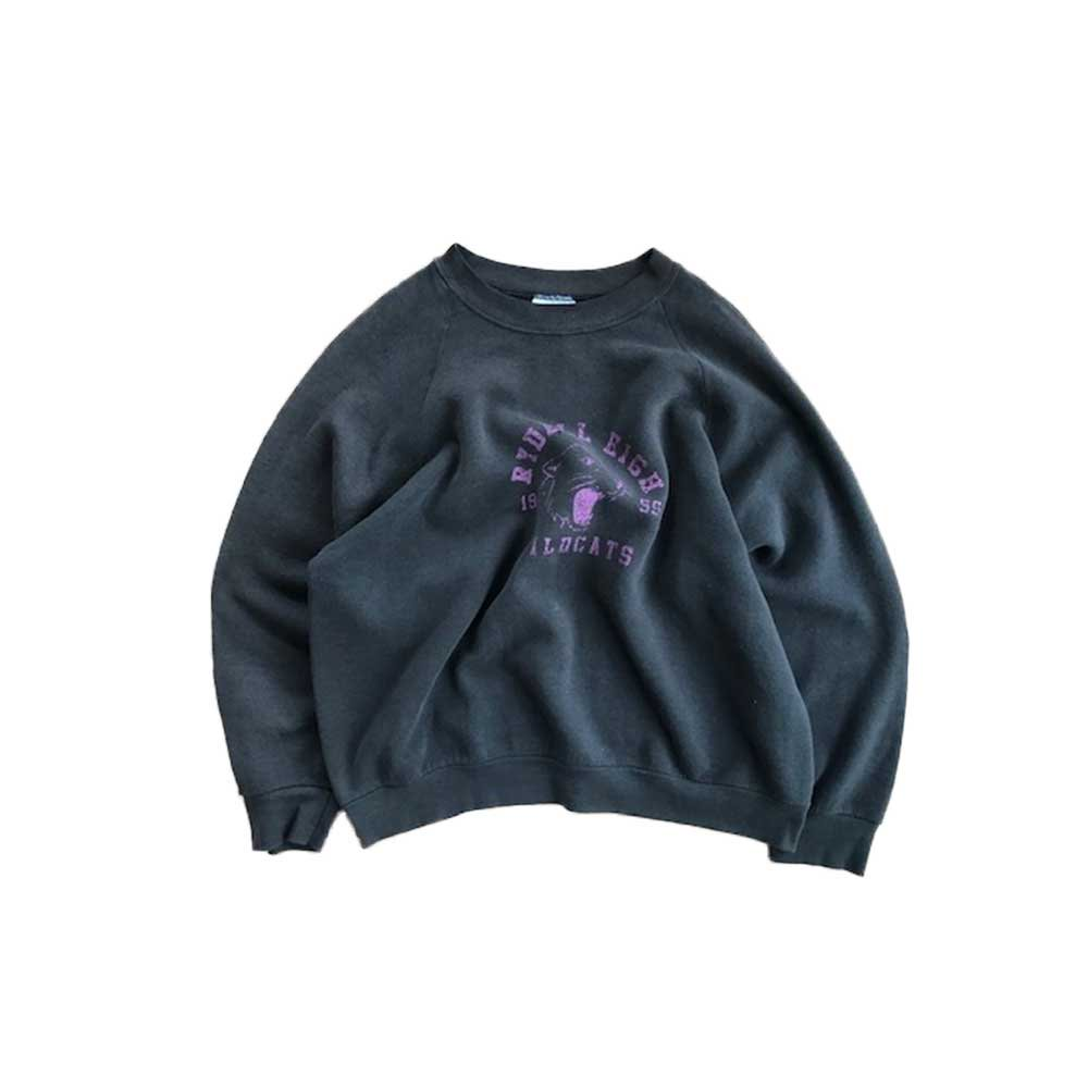 w-means(ダブルミーンズ) FRUIT OF THE LOOM カレッジクルーネックスウェット(Made in U.S.A.)表記L  炭黒 詳細画像1