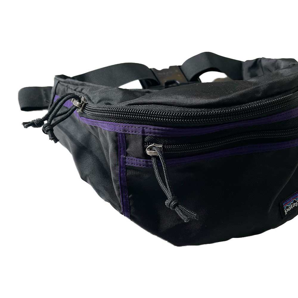 w-means(ダブルミーンズ) 90's Patagonia LUMBAR COMPRESSION PACK  one size  黒×紫 詳細画像1
