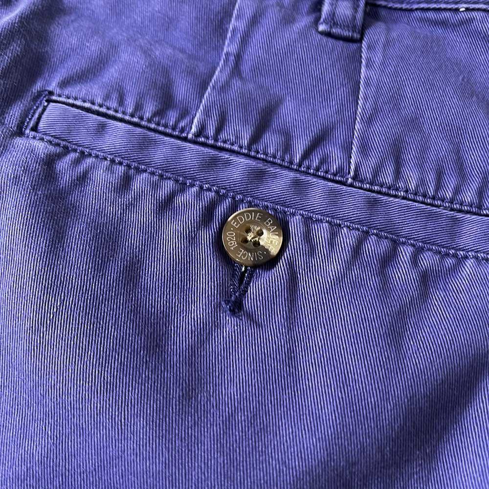 w-means(ダブルミーンズ) 90's Eddie Bauer コットン2タックショートパンツ(Made in THAILAND)表記36  Purple 詳細画像5