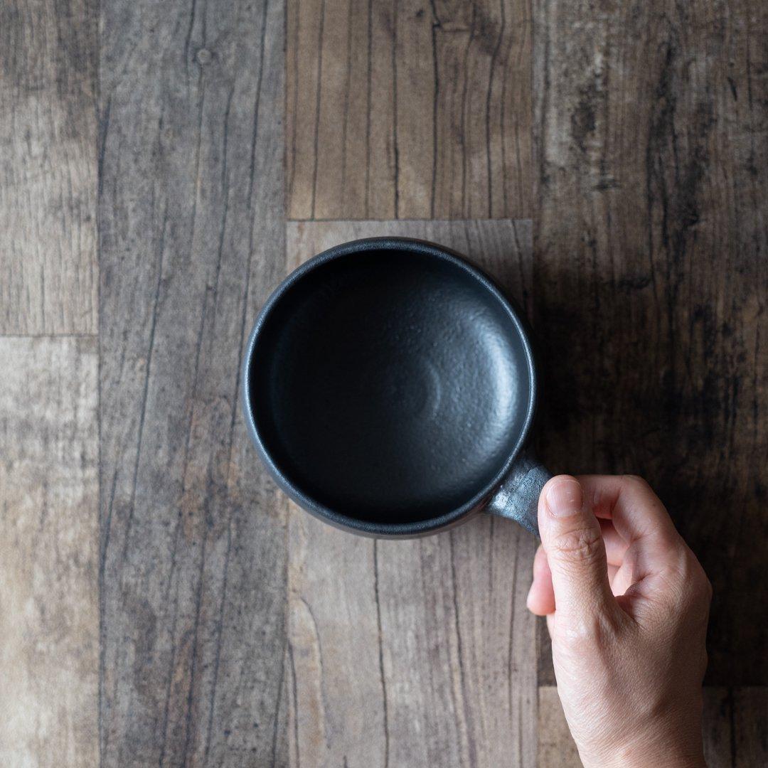 森の種陶工所 スープカップ 黒 black