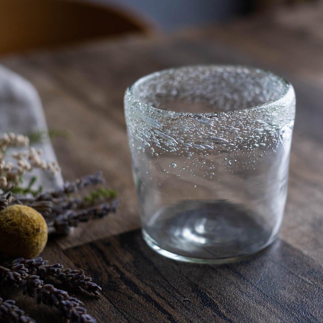 【5月31日発売】吹きガラス工房一星 山田奈緒子 ふち泡ロックグラス