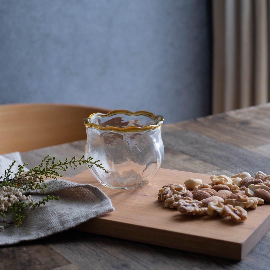 【5月31日発売】吹きガラス工房一星 山田奈緒子 モールデザート鉢