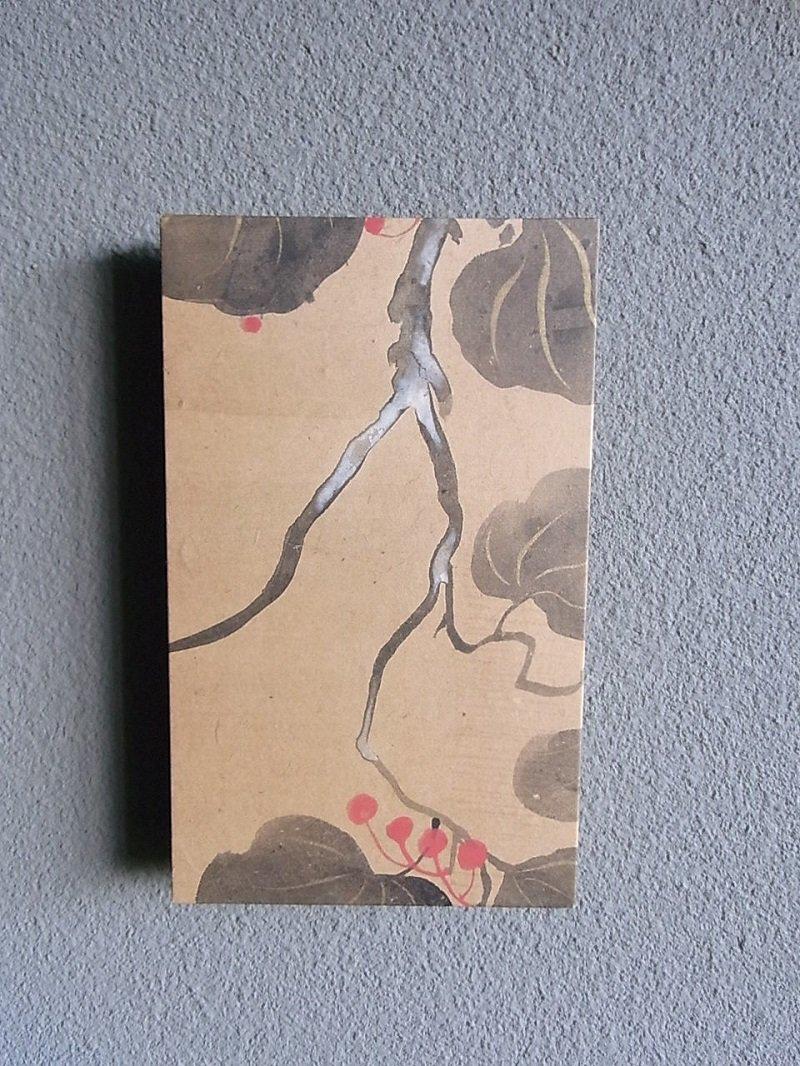 Masaオリジナル時代屏風パネル🄬18 117 4 琳派野花図