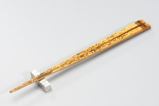 うるしトラ竹 角箸 24cm