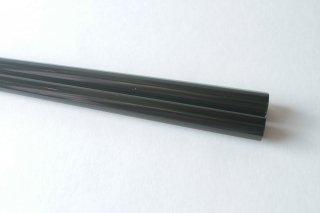 八角縞黒檀 緑溜塗り 23.5cm