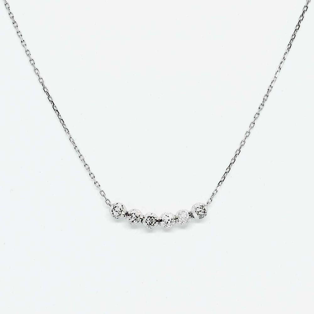 jewelry marlon <br> 6Dot Chain Neck[S]<br>K18WG<br>