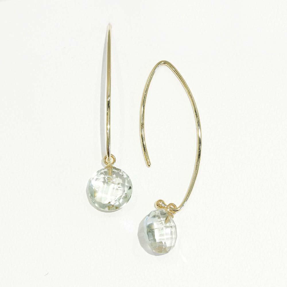 受注商品<br>Jewelry marlon<br>K18YG グリーンクォーツ<br>