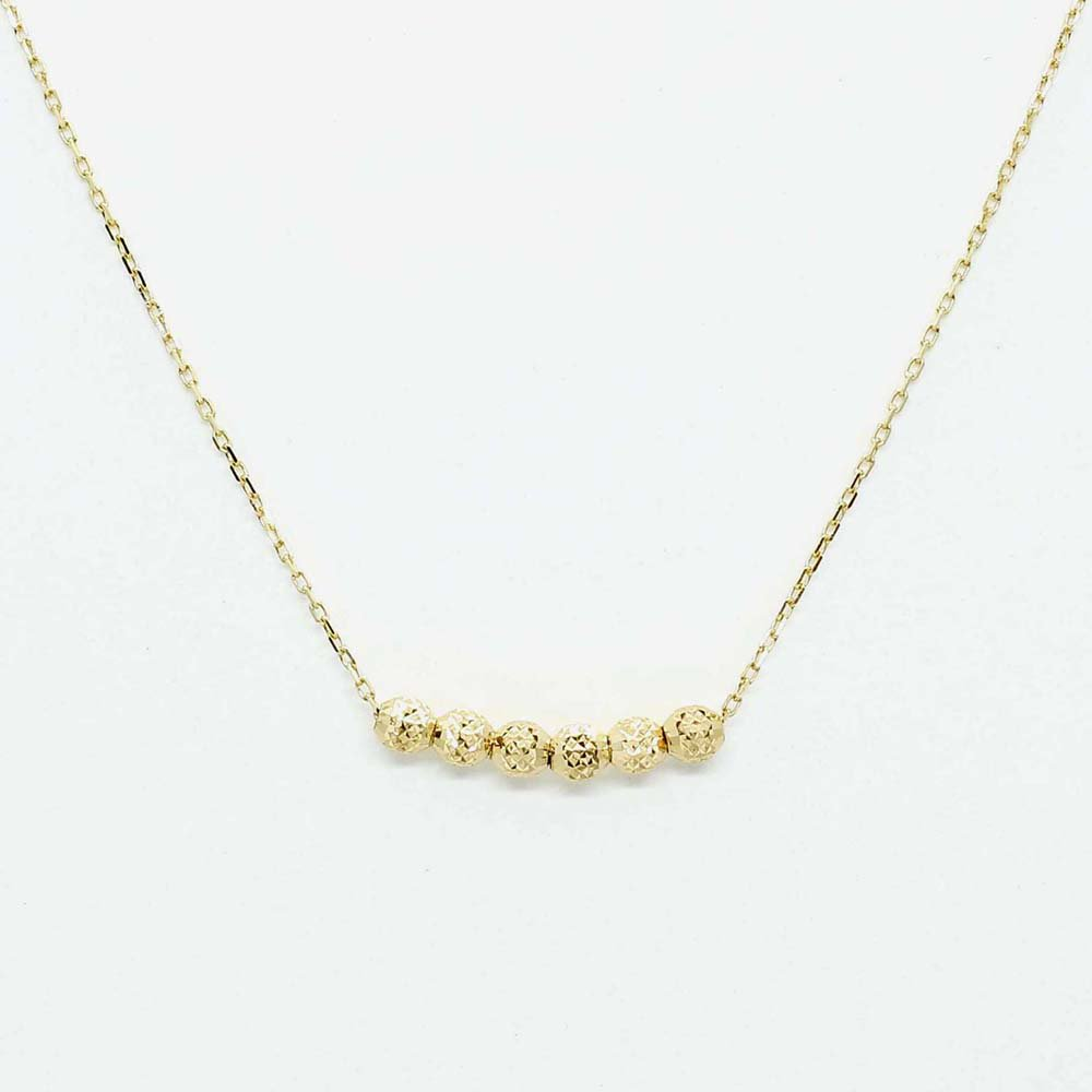 jewelry marlon<br>6 Dot Chain Neck[S]<br>K18YG<br>