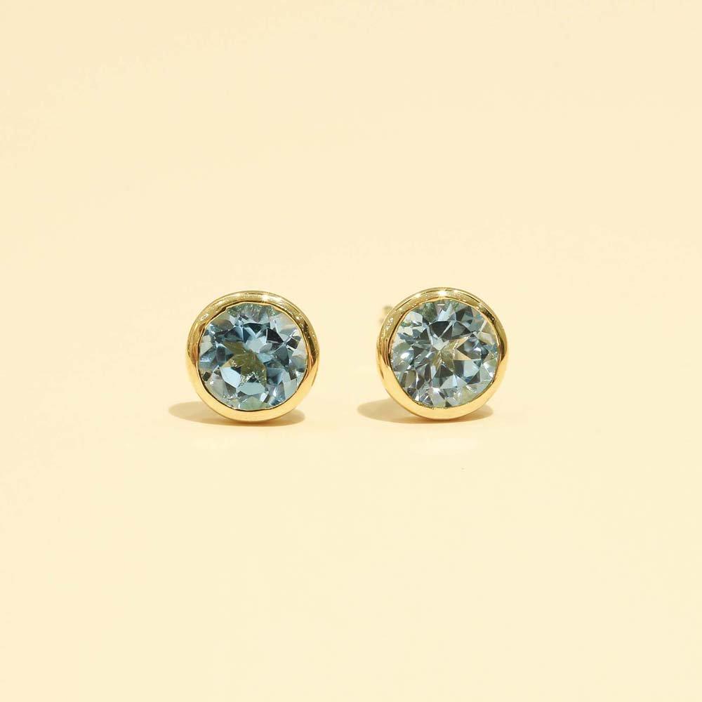 Jewelry marlon<br>K18YG ブルートパーズ<br>