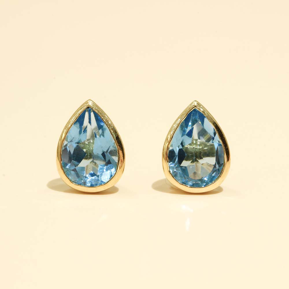 Jewelry marlon<br>K18YG ブルートパーズ ドロップ<br>