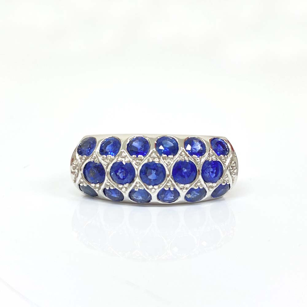 Import Jewelry<br>K18WG サファイア<br>