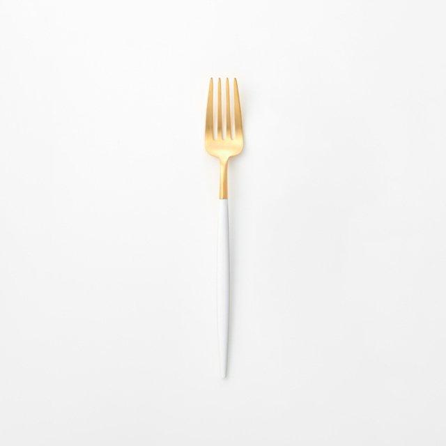 Cutipol GOA ホワイト ディナーフォーク GOLD