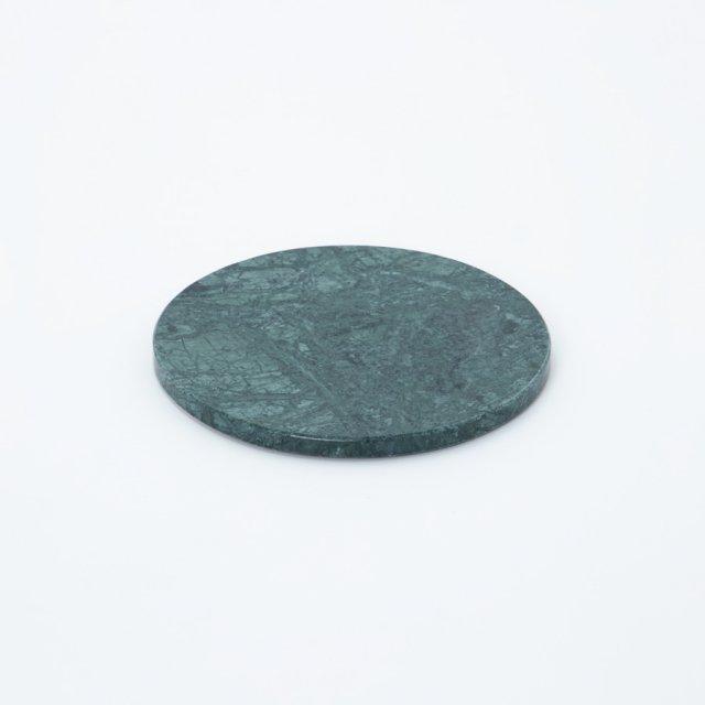 GF&CO. マーブルトレイ 円形 インド蛇紋