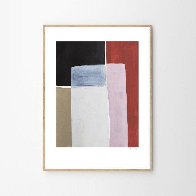 COLOUR SQUARES by Berit Mogensen Lopez (50×70cm)