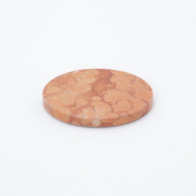 GF&CO. マーブルトレイ 円形 ロッソマニアボスキ