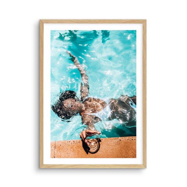 Poolside Bliss (40×50cm)