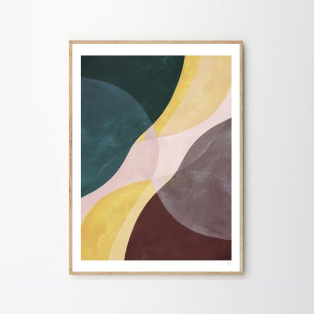 YELLOW FLOW by Berit Mogensen Lopez (30×40cm)