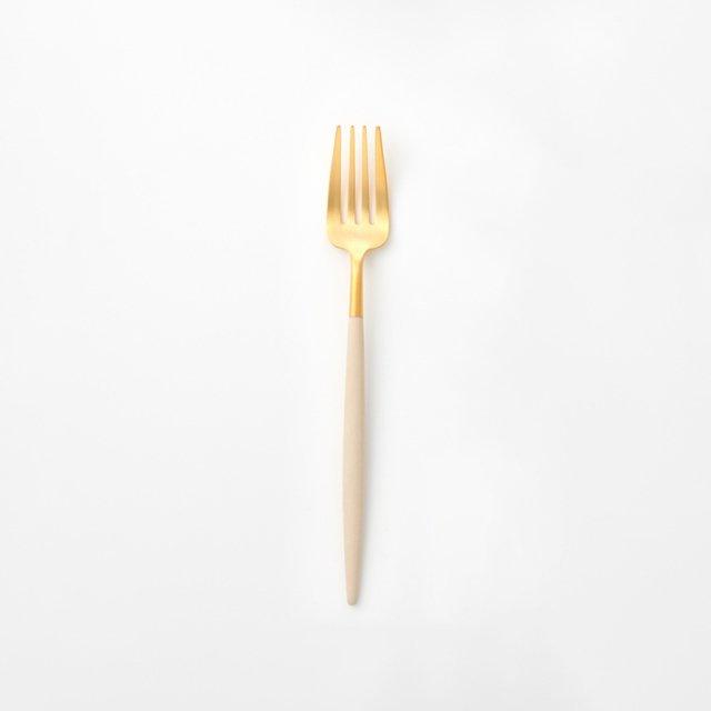 Cutipol GOA アイボリー ディナーフォーク GOLD