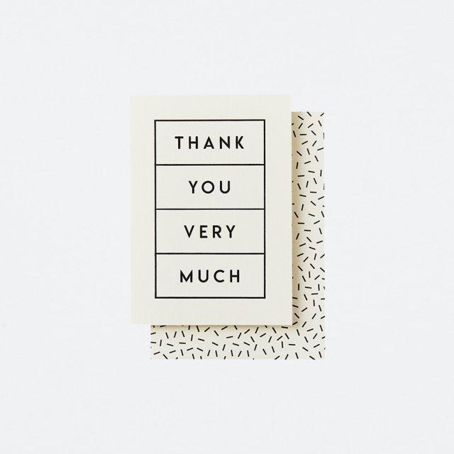 Katie Leamon メッセージカード THANK YOU BOXED