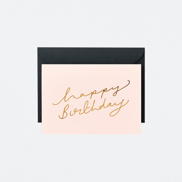 Katie Leamon メッセージカード EXTRACT HBD SCROLL PINK