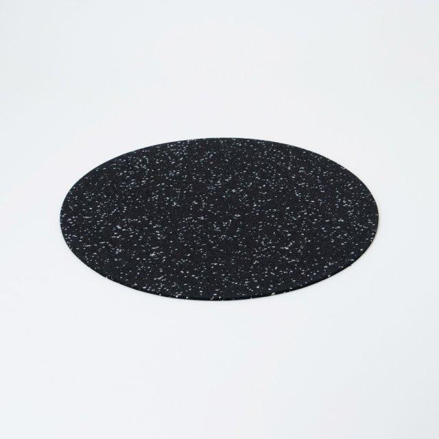 Slash Objects ラバーラウンドプレースマット SPECKLED BLACK