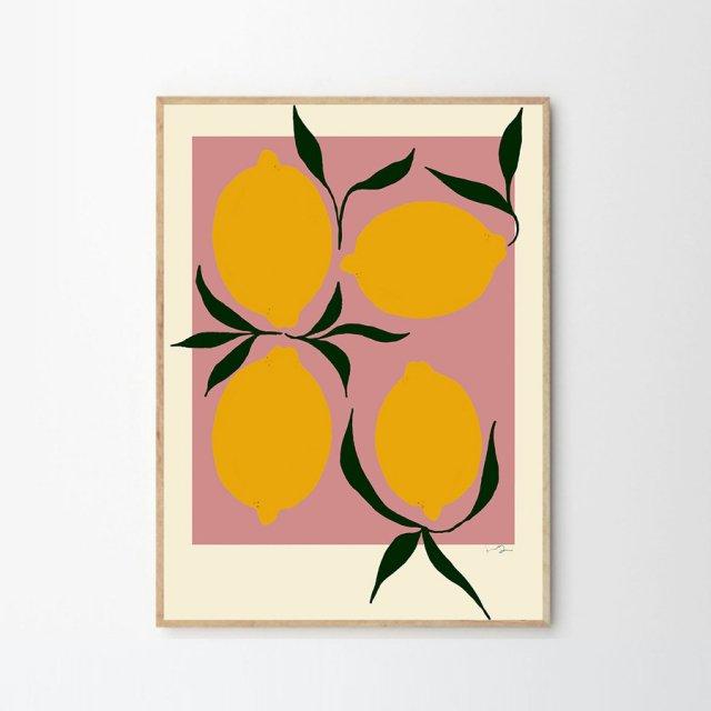 PINK LEMON by Anna Morner (30×40cm)