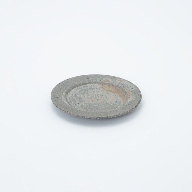 小林徹也 リム皿 19.5cm 灰釉