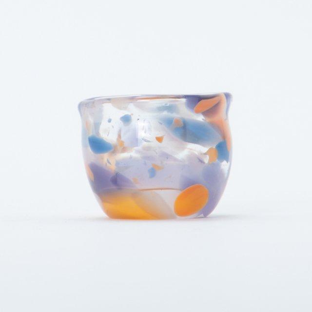 en.glassdesign マーブルミニグラス #02