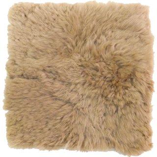 ムートンクッション ブラウン 約35×35cm