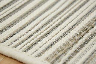 ゴザ風高級平織ラグ「ブライトン」 アイボリー 160×230cm