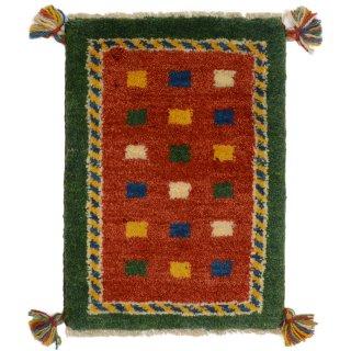 ペルシャンギャッベ 玄関マット40×60サイズ グリーン系 40.6×56.4cm
