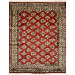 パキスタン絨毯 手織り レッド 3帖サイズ 約206×257cm 1616-25149R