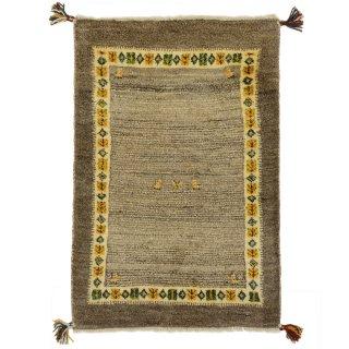 ペルシャンギャッベ 玄関マット60×90サイズ ベージュ系 約64×95cm