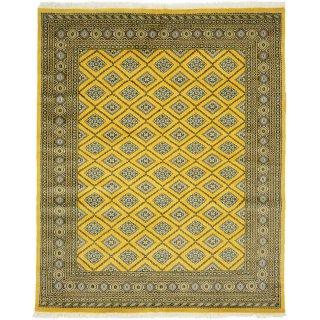パキスタン 手織 ウール 絨毯 9×16 202×249cm 1616-25178GO