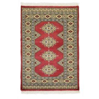 パキスタン 手織 ウール 絨毯 9×16 レッド系 玄関マットサイズ 約79×113cm