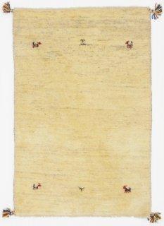 ペルシャンギャッベ ザロチャラク 玄関マット80×120サイズ 81×121cm ベージュ系