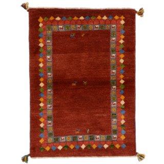 ペルシャンギャッベ ザロチャラク 玄関マット80×120サイズ 81×113.5cm レッド系